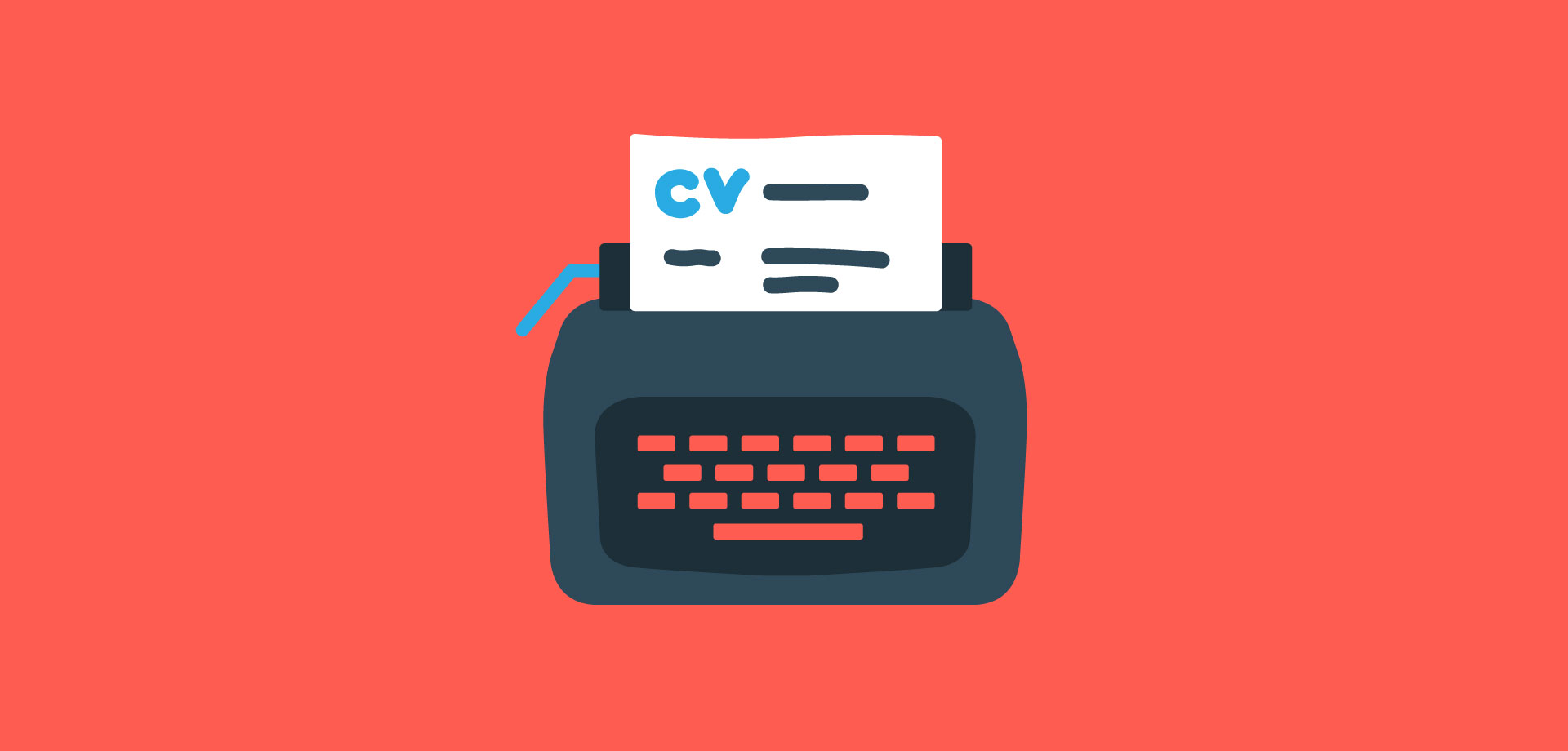 5 CV tips to writing the perfect CV typewriter animation - Magnet.me Guide